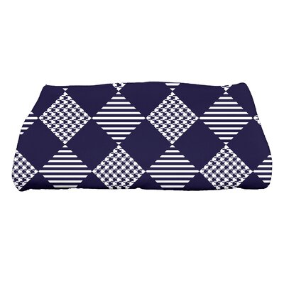 Jump for Joy Check It Twice Bath Towel Color: Blue