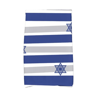 Hanukkah Star Stripes Hand Towel Color: Blue