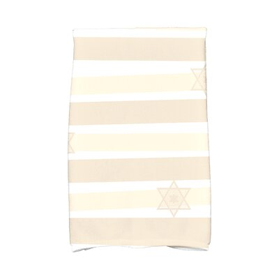 Hanukkah Star Stripes Hand Towel Color: Cream