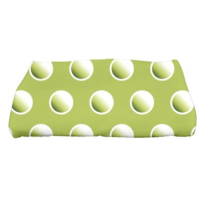 Jump for Joy Dip Dye Dots Bath Towel Color: Green