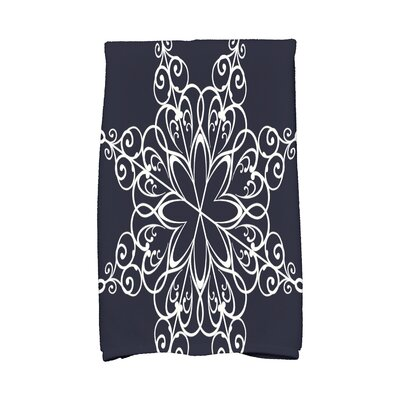 Holiday Wishes Snowflake Hand Towel Color: Blue