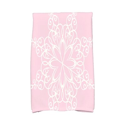 Holiday Wishes Snowflake Hand Towel Color: Pink