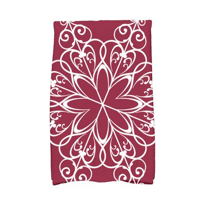 Holiday Wishes Snowflake Hand Towel Color: Cranberry
