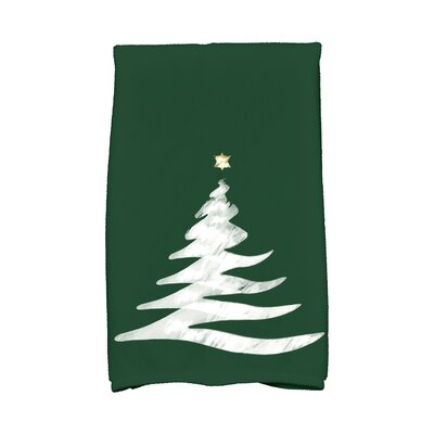 Holiday Wishes Wishing Tree Hand Towel Color: Green