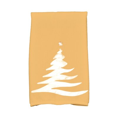 Holiday Wishes Wishing Tree Hand Towel Color: Gold