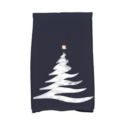 Holiday Wishes Wishing Tree Hand Towel Color: Blue