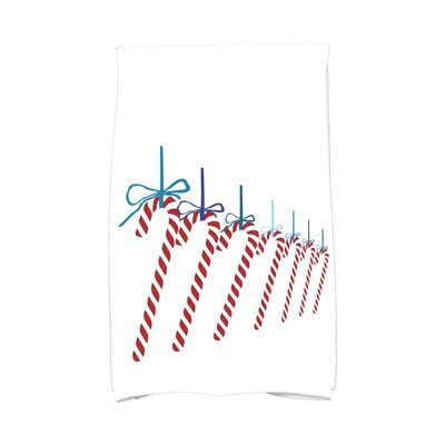 Jump for Joy Candy Canes Hand Towel Color: Teal
