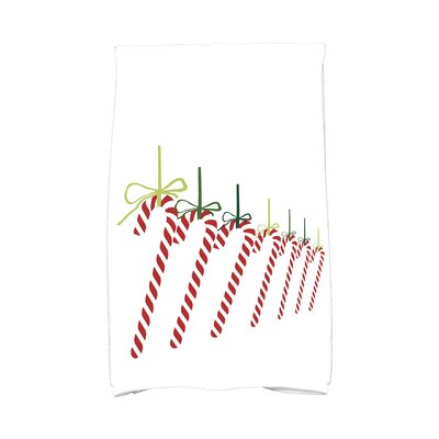 Jump for Joy Candy Canes Hand Towel Color: Green