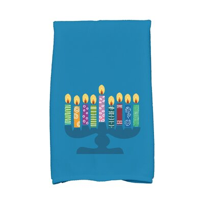 Hanukkah Festival of Lights Hand Towel Color: Teal