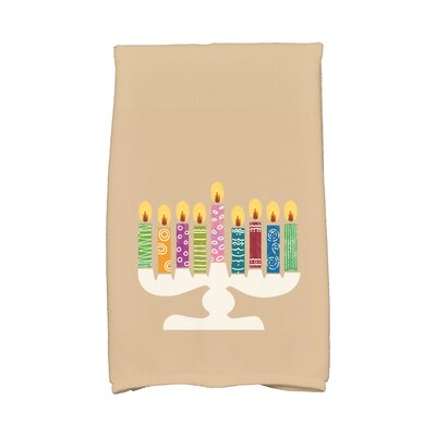 Hanukkah Festival of Lights Hand Towel Color: Taupe