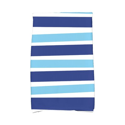 Hanukkah Stripes Hand Towel Color: Blue