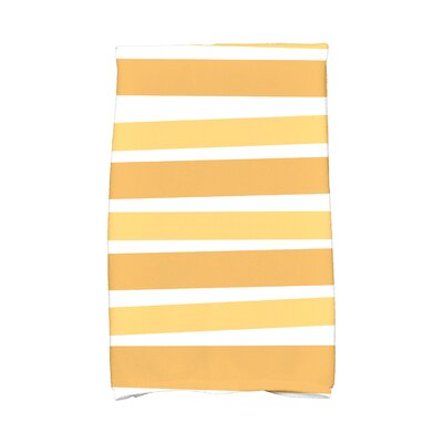 Hanukkah Stripes Hand Towel Color: Gold