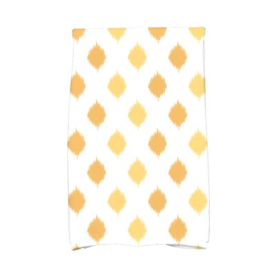 Hanukkah Ikat Dot Stripes Hand Towel Color: Yellow