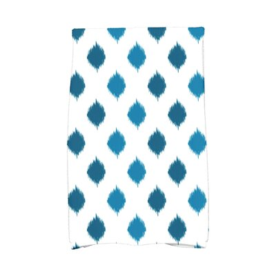 Hanukkah Ikat Dot Stripes Hand Towel Color: Teal