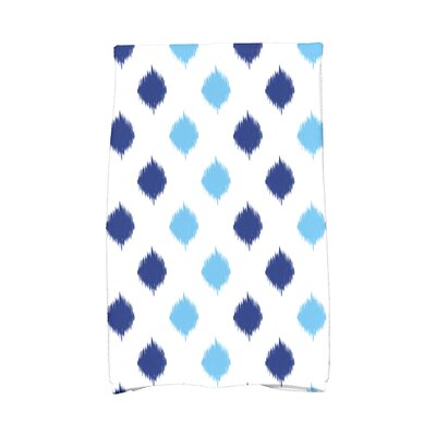 Hanukkah Ikat Dot Stripes Hand Towel Color: Blue