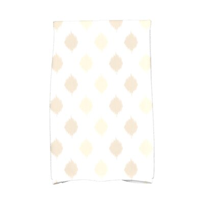Hanukkah Ikat Dot Stripes Hand Towel Color: Cream