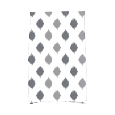 Hanukkah Ikat Dot Stripes Hand Towel Color: Gray
