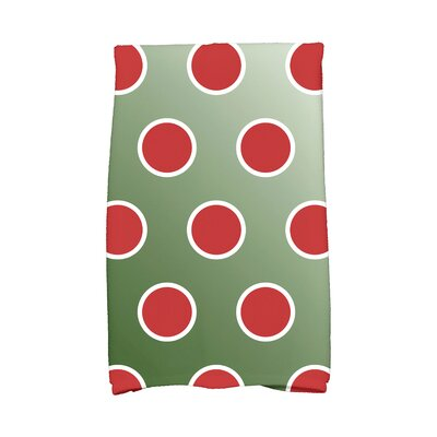 Jump for Joy Holiday Bubbly Hand Towel Color: Dark Green