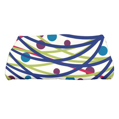 Jump for Joy Doodle Decorations Bath Towel Color: Blue