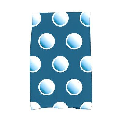 Jump for Joy Dip Dye Dots Hand Towel Color: Teal