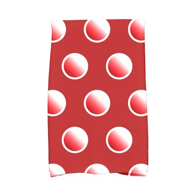 Jump for Joy Dip Dye Dots Hand Towel Color: Red