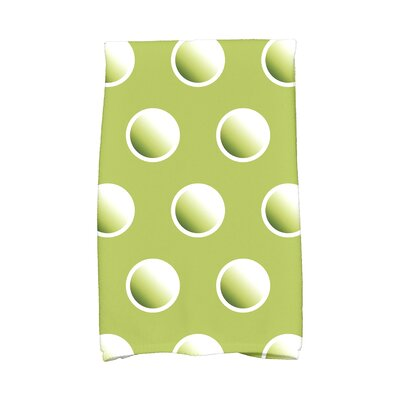Jump for Joy Dip Dye Dots Hand Towel Color: Green