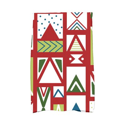 Jump for Joy Merry Susan Hand Towel Color: Red