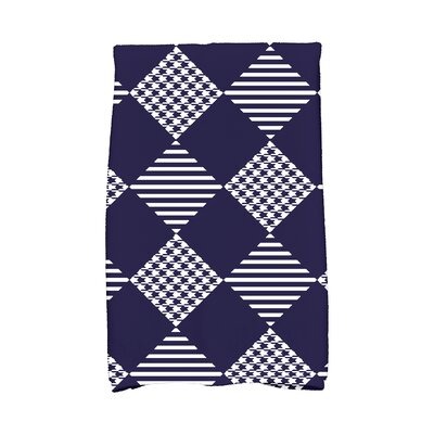 Jump for Joy Check It Twice Hand Towel Color: Blue