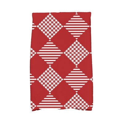 Jump for Joy Check It Twice Hand Towel Color: Red