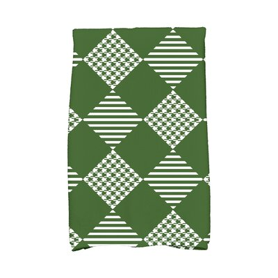 Jump for Joy Check It Twice Hand Towel Color: Green