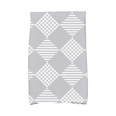 Jump for Joy Check It Twice Hand Towel Color: Gray