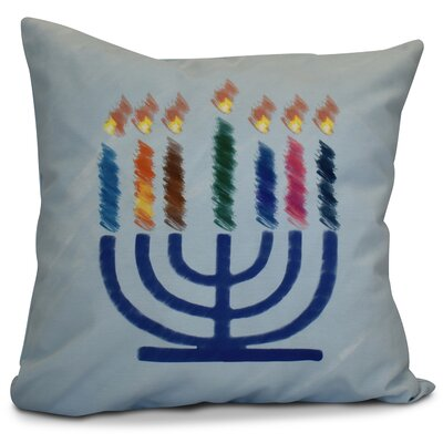 Hanukkah 2016 Decorative Holiday Geometric Outdoor Throw Pillow Color: Light Blue, Size: 20 H x 20 W x 2 D