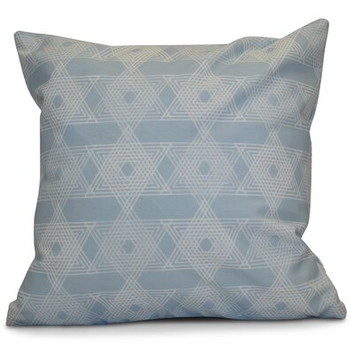 Hanukkah 2016 Decorative Holiday Geometric Euro Pillow Color: Light Blue