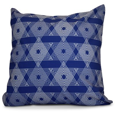 Hanukkah 2016 Decorative Holiday Geometric Throw Pillow Size: 16 H x 16 W x 2 D, Color: Royal Blue