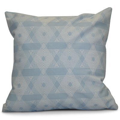 Hanukkah 2016 Decorative Holiday Geometric Throw Pillow Size: 18 H x 18 W x 2 D, Color: Light Blue