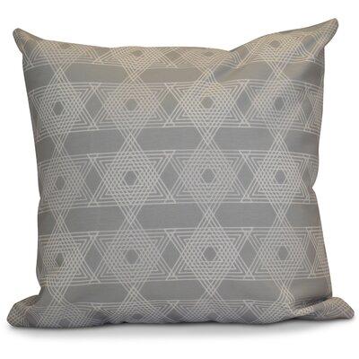 Hanukkah 2016 Decorative Holiday Geometric Throw Pillow Size: 16 H x 16 W x 2 D, Color: Gray