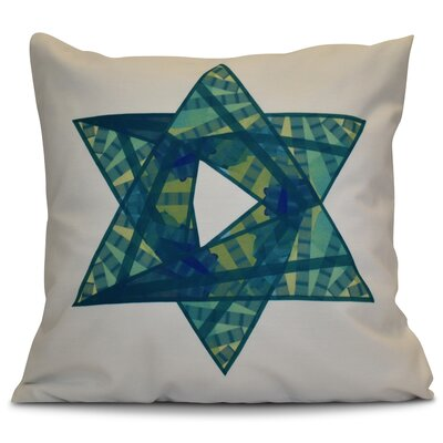 Hanukkah 2016 Decorative Holiday Geometric Euro Pillow Color: Teal