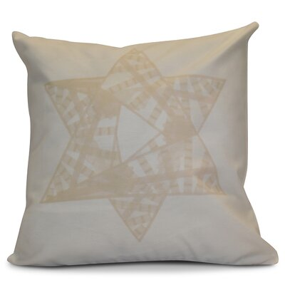 Hanukkah 2016 Decorative Holiday Geometric Euro Pillow Color: Cream / Off White