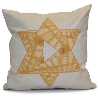 Hanukkah 2016 Decorative Holiday Geometric Euro Pillow Color: Gold