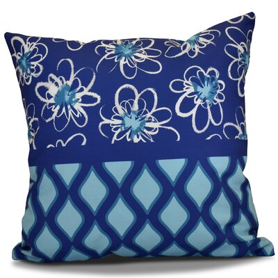 Hanukkah 2016 Decorative Holiday Geometric Outdoor Throw Pillow Size: 16 H x 16 W x 2 D, Color: Light Blue