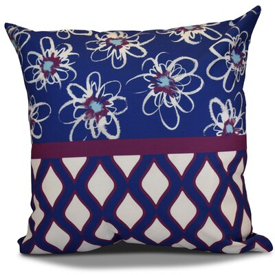 Hanukkah 2016 Decorative Holiday Geometric Outdoor Throw Pillow Size: 18 H x 18 W x 2 D, Color: Purple