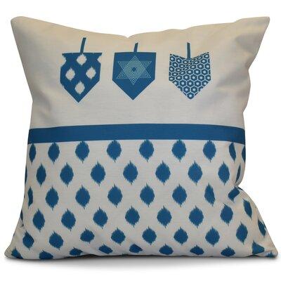 Hanukkah 2016 Decorative Holiday Geometric Outdoor Throw Pillow Size: 16 H x 16 W x 2 D, Color: Teal