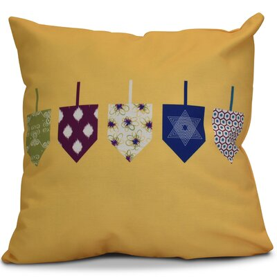 Hanukkah 2016 Decorative Holiday Geometric Euro Pillow Color: Yellow