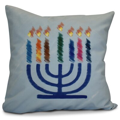 Hanukkah 2016 Decorative Holiday Geometric Throw Pillow Color: Light Blue, Size: 20 H x 20 W x 2 D