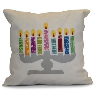 Hanukkah 2016 Decorative Holiday Geometric Throw Pillow Size: 16 H x 16 W x 2 D, Color: White