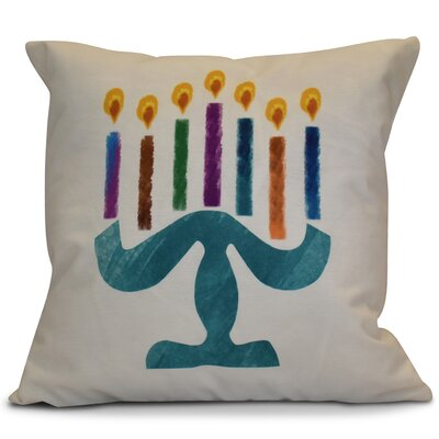 Hanukkah 2016 Decorative Holiday Geometric Outdoor Throw Pillow Size: 20 H x 20 W x 2 D