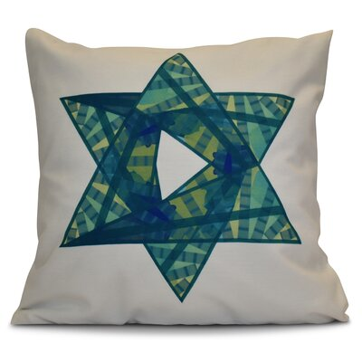 Hanukkah 2016 Decorative Holiday Geometric Throw Pillow Size: 20 H x 20 W x 2 D, Color: Teal