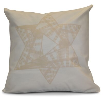 Hanukkah 2016 Decorative Holiday Geometric Throw Pillow Size: 16 H x 16 W x 2 D, Color: Cream / Off White