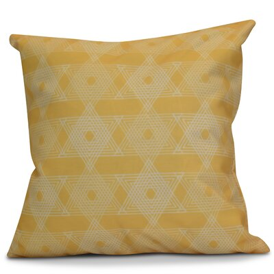 Hanukkah 2016 Decorative Holiday Geometric Outdoor Throw Pillow Size: 18 H x 18 W x 2 D, Color: Yellow