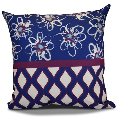 Hanukkah 2016 Decorative Holiday Geometric Throw Pillow Size: 16 H x 16 W x 2 D, Color: Purple